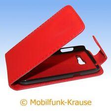 Flip Case Etui Handytasche Tasche Hülle f. Samsung GT-S7390 / S7390 (Rot)