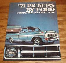 1971 Ford Pickup Sales Brochure 71 F-100 F-250 F-350
