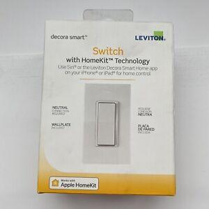 Leviton Decora Smart Light Switch works w/ Apple Home Kit R02-DH15S-2RW White