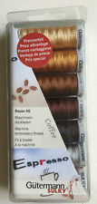Gutermann Sulky Rayon 40 Machine Embroidery COFFEE Thread Set 7 Reels