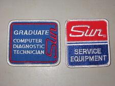 Vintage Sun Service Equipment + Graduate Computer Diagnostic Technician patches
