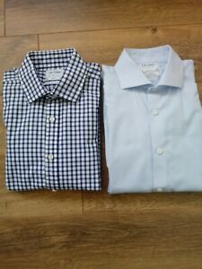2 x TM Lewin Slim Fit Shirts 16in