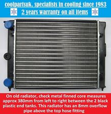BRAND NEW RADIATOR TO FIT VOLKSWAGEN POLO 1.0 1983 TO 1990 / KIT CAR 380mm CORE