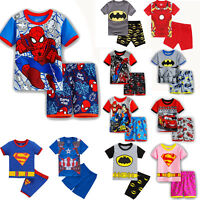 Boys Girls Kids Toddler Characters Short Sleeve Pyjamas Pjs Set Age 2-8 years