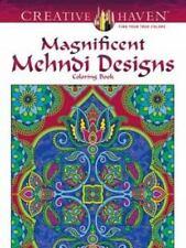 Creative Haven Magnificent Mehndi Designs Coloring Book Adult Coloring