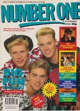 NUMBER ONE MAGAZINE BIG FUN/JANET JACKSON/NEW KIDS ON THE BLOCK NOV 89