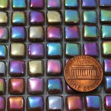 8mm Mosaic Glass Tiles - 2 Ounces About 87 Tiles - Iridescent Chocolate Brown