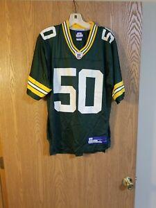 Green Bay Packers A.J. Hawk #50 Reebok Jersey Adult S EUC