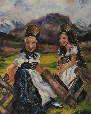 Gemälde Signiert Frauen Tracht W Braune