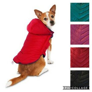 Good2Go Quilted Parka Dog Jacket Coat Water Resistant Removable Hood NWT