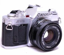 CANON AV-1 SLR Camera With Canon 50mm f/1.8 FD Mount Camera Lens  - K06