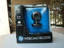 New HP HD-2200 Webcam 4MP 30fps 1280x720 USB 2.0 Great for Zooming NIB