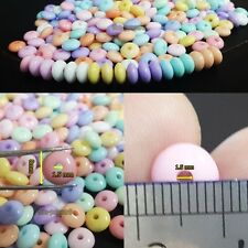 200pcs Spacer beads Flying Saucer UFO Style Pastel Diy Jewelry Making 8mm
