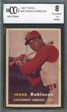Frank Robinson Rookie Card 1957 Topps #35 Cincinnati Reds (Centered) BGS BCCG 8