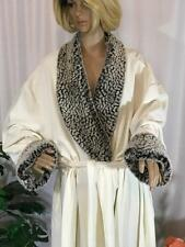 Cabernet Woman Ivory and Faux Fur Robe Size 3X # 062302