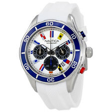 Nautica NST 12 Silver Dial Mens Chronograph Watch NAD16536G