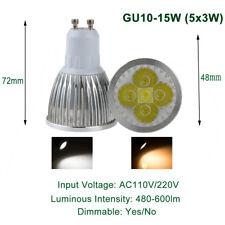 Dimmable GU10 9W 12W 15W CREE LED Spotlight Down Light Lamp 420-660LM White Bulb