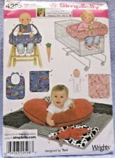 Simplicity Pattern 4225 One Size Baby Pillow Cover Quilt Bunny Seat Doll Uncut