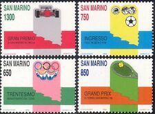 San MARINO 1989 CALCIO/TENNIS/MOTOR RACING/Olimpiadi/Sport/Giochi 4 V Set n43366