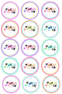 15 Pre-Cut Edible Icing Good luck Cupcake Cake Icing Toppers
