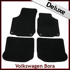 VW Bora 1998-2005 Round Eyelets Tailored LUXURY 1300g Carpet Mats BLACK