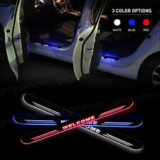2x LED Door Sill Scuff Plate Light Step Guard Courtesy for Honda Accord 2008-16