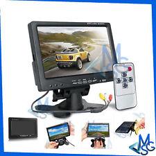 """Monitor 7"""" LCD TFT 2 Canali AV Colori per Auto Camper Camion Videosorveglianza"""