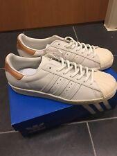 Adidas Originales Superstar 80s W UK 9 Nubuck y tan Baloncesto Zapatillas PVP £ 90