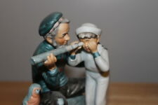 """Vintage Gorham Norman Rockwell """"Captain"""" figurine made in 1974 with original box"""