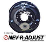 """2 x Dexter 12""""x2"""" Never-Adjust Nev-R-Adjust Electric Trailer Brake Backing Plate"""