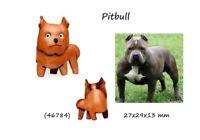 Llavero Piel Colgante Cuero Hombre Mujer Perros Pittbull