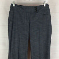 Ann Taylor LOFT Julie women 2P stretch blueish gray mid rise bootcut dress pant