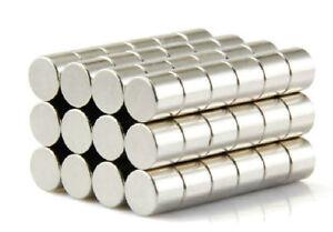 10 Stk Starke Neodym Magnete N50 Ø8x8mm Magnet Zylinder Pinnwand Kühlschrank