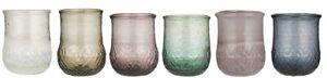 IB Laursen Vase 6er bunt Windlicht Teelicht Glas Blumen Kerzen Frühling draußen