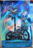 Warrant Band Autographed Poster Hand-Signed 12x18 Bike Week 2015