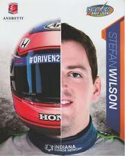 2018 Stefan Wilson Driven 2 Save Lives Honda Dallara Indy 500 Indy Car postcard