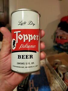 TOPPER PILSNER LIGHT DRY BEER. 12 Oz. Steel American Beer Can.