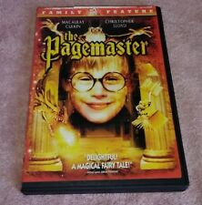 The Pagemaster DVD Widescreen And Full Screen Macaulay Culkin Christopher Lloyd