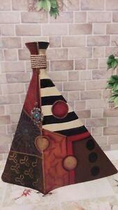 "Vintage decorative bottle Abstractionism decanter jug 15""USSR 1980""s Surrealist"