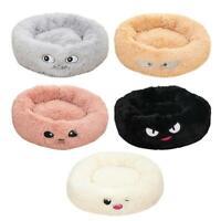 Warm Fleece Dog Bed Round Pet Lunoger Cushion Cat Winter Kennel Puppy Mat Gift