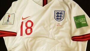 England Women's USA Football Soccer Ellen White Morgan Match Issue Jersey Shirt