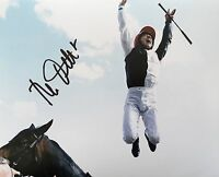 Frankie Dettori Signed 10x8 Flying Dismount Photo Image D UACC Reg dealer AFTAL
