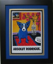 "ABSOLUT VODKA print ad by GEORGE RODRIGUE - Matted & Framed - 13"" x 16"""