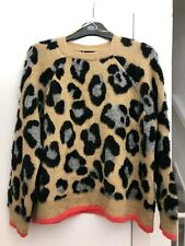 Lovely BNWT M&S textured animal print crew neck jumper - M