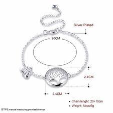 925 Silber Silberschmuck Lebensbaum Armband Damen Armbänder Armreif Silberkette