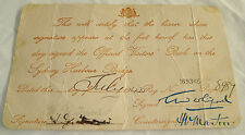 Vintage old antique australian official visitor Certificate 1942 sydney harbour