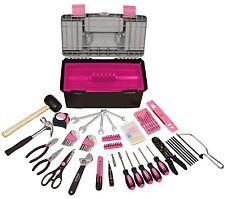 170 Pcs Mixed House Repair Tool Kit Pink Box Dorm Emrgency Tools Set New