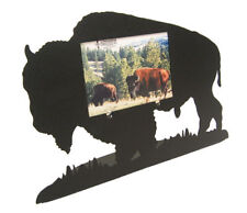 Buffalo / Bison Full Body 3x5H Black Metal Picture Frame