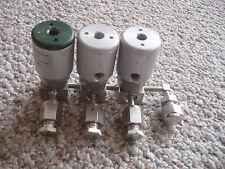 3 Swagelok Valves 158005 B63359 6LV-DAF111P-C 6LV-DAR11P-O  0050-27735