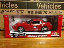 Ferrari Red 575 Zagato 60th Anniversary Foundation 1/18 Hotwheels Mattel L2960